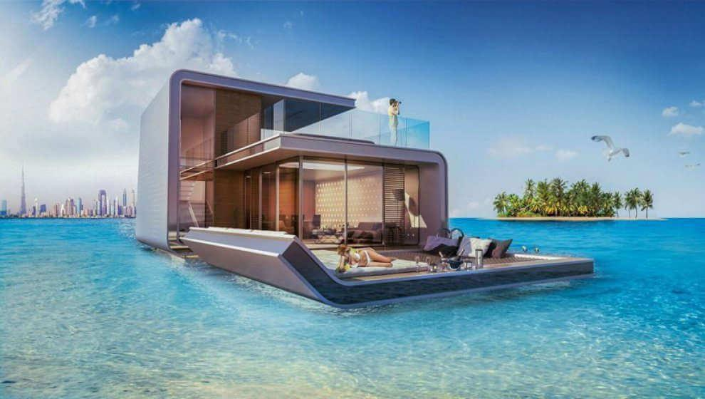 The Floating Seahorse Villas at  The World Islands
