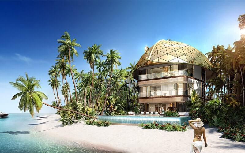 Sweden Beach Palace at  The World Islands
