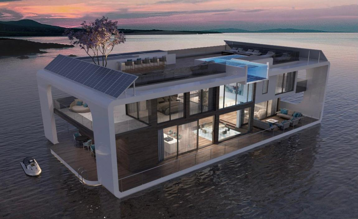Neptune Glass Boat Villa at  Dubai Marina